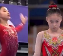 Teen Olympian Suni Lee seen cheering for her Chinese opponent in balance beam final