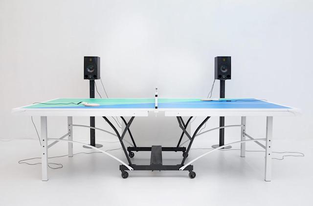 Smart ping pong paddles remix music to the speed of play