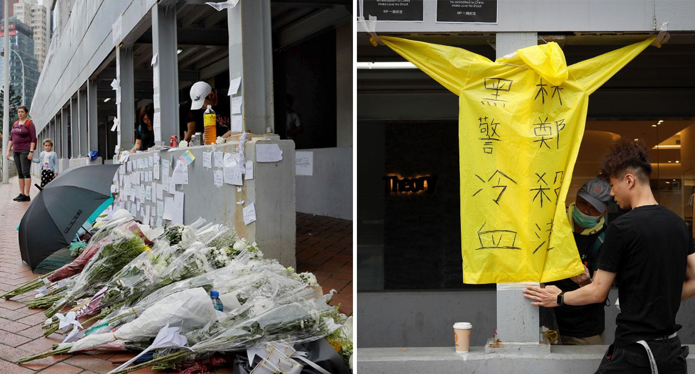 Protester dies after Hong Kong suspends controversial bill