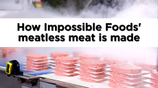 How Impossible Foods' meatless meat is made