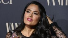 Fans praise 'natural beauty' Salma Hayek after she shows off white hair