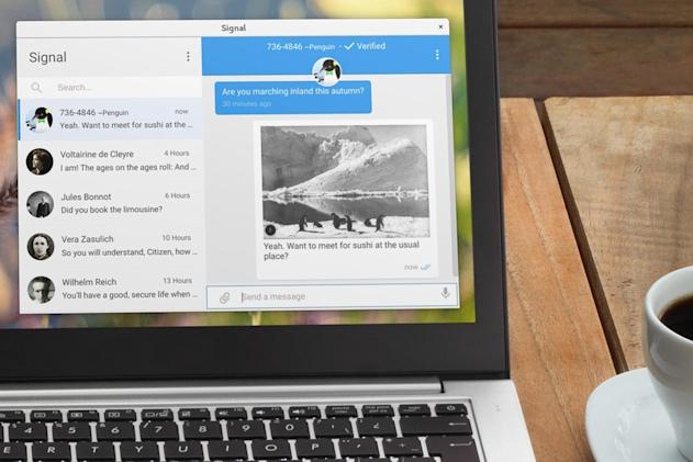 Signal's secure messaging is now available in a desktop app