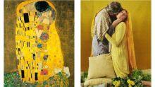 'Tonight it's the Klimt clinch': restaging great art in lockdown Dublin