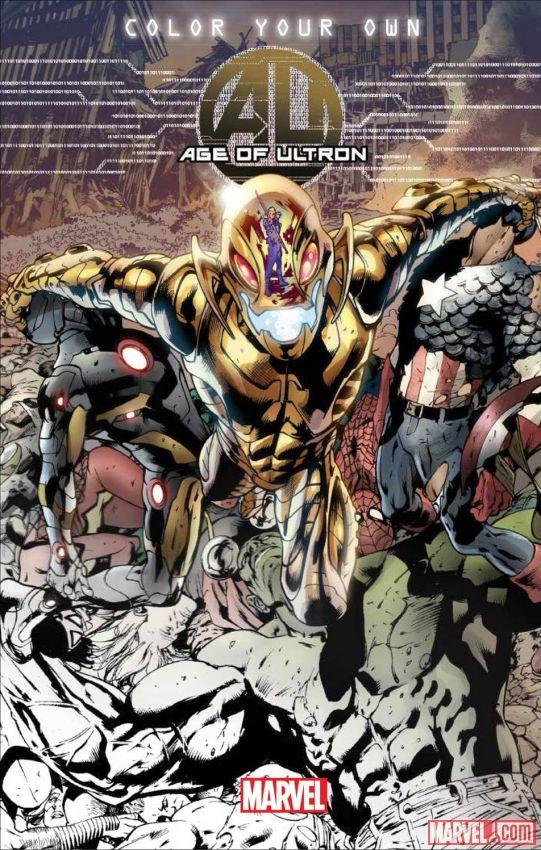 Age of ultron will be the first marvel comic to get a coloring book later this year