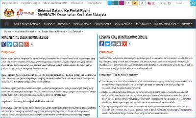 'Lesbian, pondan' - Netizens find more questionable articles on MOH education portal