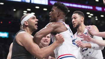 Sixers rally as bad blood boils over in Brooklyn
