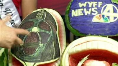 'Asian Fusion' Chef Carves Watermelons For Freedom Weekend Aloft, pt. 2