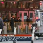 Possible pipe bomb explodes below bus Port Authority Bus Terminal near Times Square
