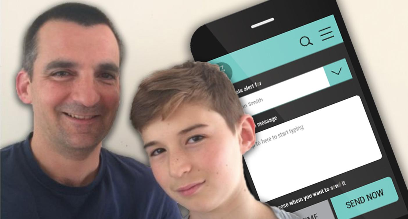 Dad creates app which locks your child's phone until they reply to you