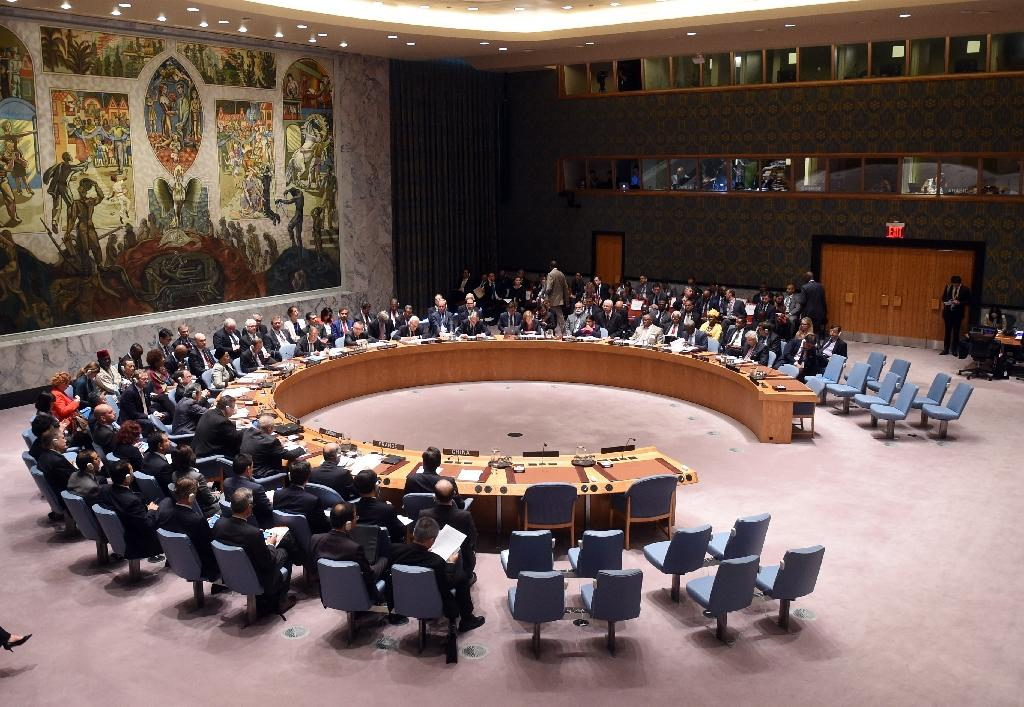 A UN Security Council meeting on settlement of conflicts in the Middle East and North Africa on September 30, 2015 in New York (AFP Photo/Timothy A. Clary)