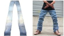 Ridiculous 2.7 metre jeans are impractical new fashion trend