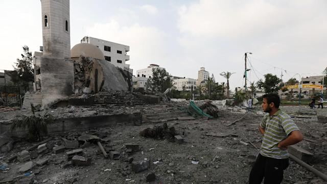 Israeli Aircraft Hits Dozens of Gaza Targets