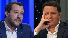 """Salvini vs Renzi: """"Cambia idea tre volte al giorno"""""""