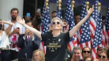 Megan Rapinoe backs U.S. Soccer president, drops F-bomb as part of victory parade speech