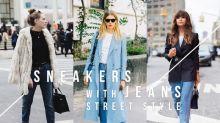 牛仔褲與波鞋:基礎款單品也能搭配出 N 種風格!