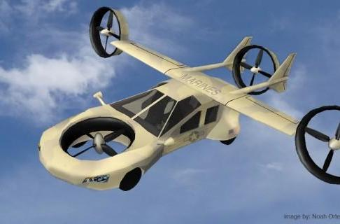 Tyrannos flying military car concept avoids road obstacles... by flying