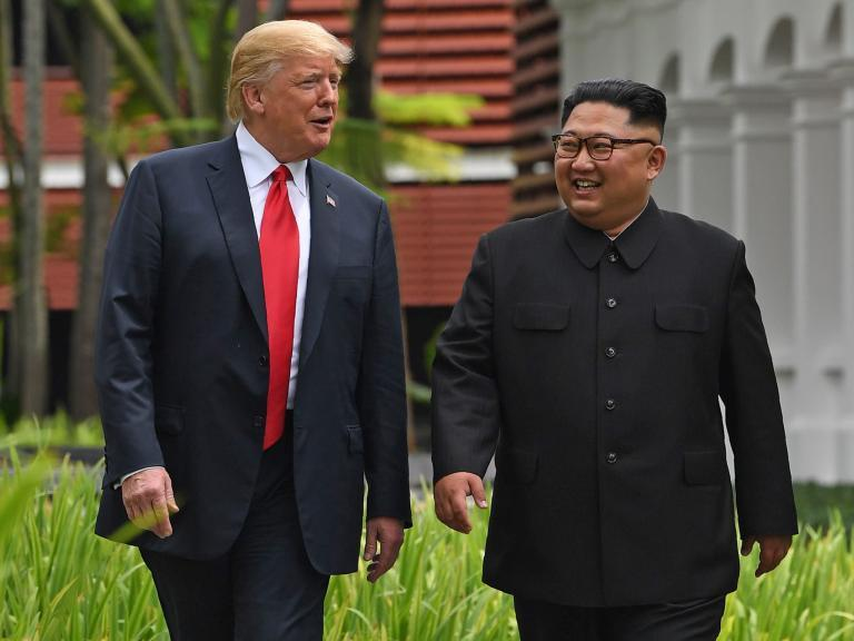 Trump blames China for stalled North Korea talks and threatens to relaunch South Korea war games