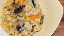 蘑菇忌廉蕃薯意大利飯