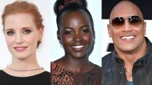 Jessica Chastain, Lupita Nyong'o, Dwayne Johnson, and More Geek Out Over 'Wonder Woman'