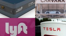 15 momentum stocks expected to show the best sales growth over the next two years, including Carvana, Tesla and Palantir
