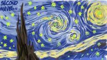 """L'Actu en dessin: la seconde vague du Covid-19 vue par Ed Hall façon """"Nuit étoilée"""" de Van Gogh"""