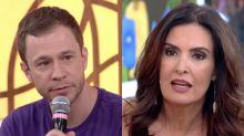 Tiago Leifert brinca sobre namoro de Fátima Bernardes e apresentadora desconversa