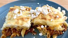 This baked pasta dish is the Greek version of lasagna - but way better. I learned how to make my dad's recipe, and it's perfect for leftovers.