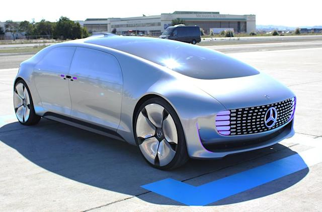 Riding in Mercedes' luxurious, self-driving car of the future