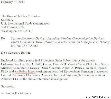 UK judge who upheld order for Apple to apologize now works for Samsung