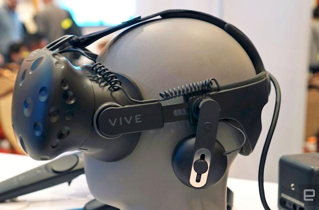 HTC's Vive Tracker and Deluxe Audio Strap cost $100 each