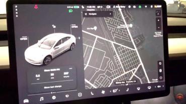 Model 3 突然換上新介面!車輛描繪加倍細緻,視覺化呈現更美更逼真 (FSD beta)