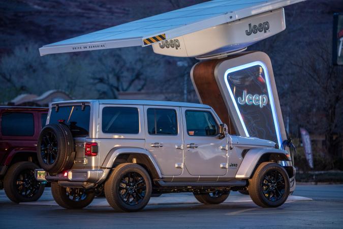 Jeep EV charging station