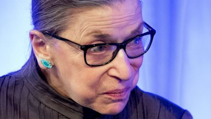 Justice Ginsburg returns to her Chambers after fall