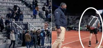 Bizarre scenes as crowd forced to leave mid-match