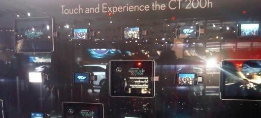 Apple devices seen everywhere at the LA Auto Show