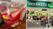 Woman finds 'unwanted freebie' in bag of rice from Woolworths