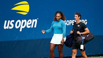 Serena's coach calls for on-court coaching