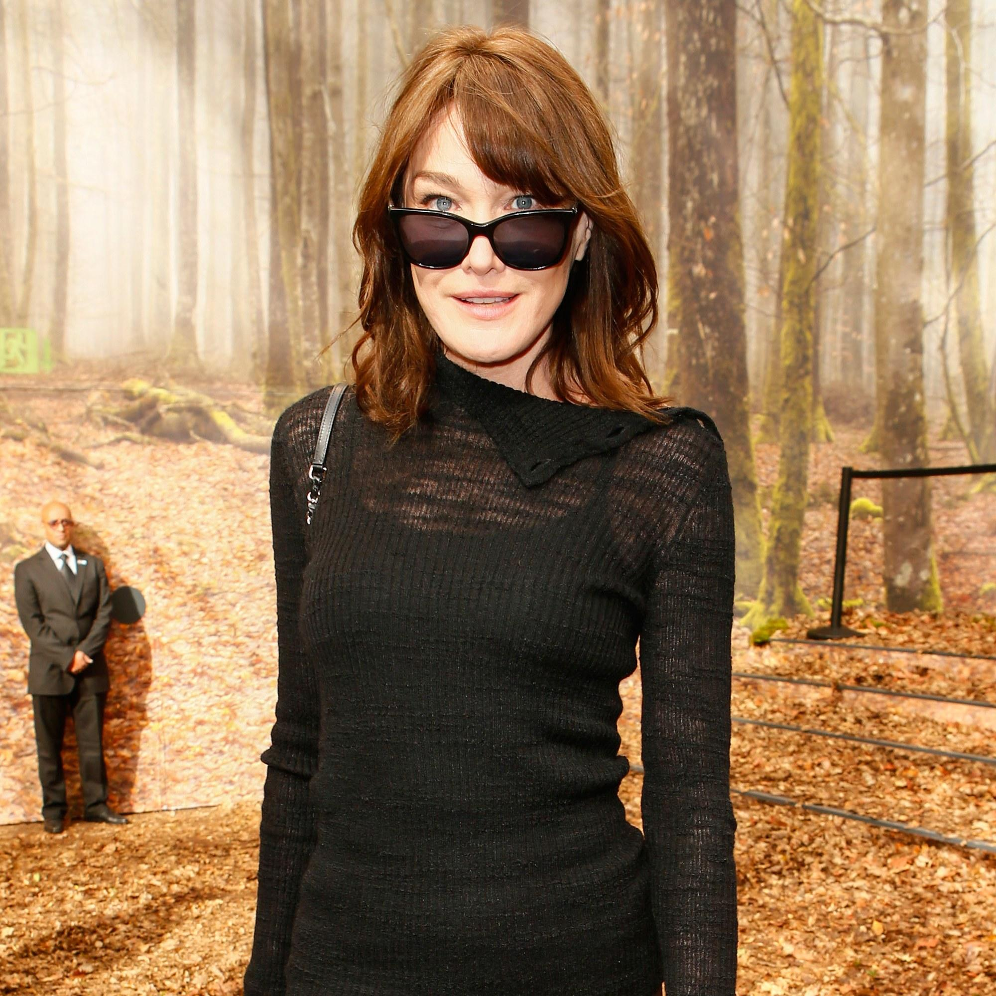 Carla Bruni Sarkozy Masters The French Bob And Dark Sunglasses For Day At Chanel