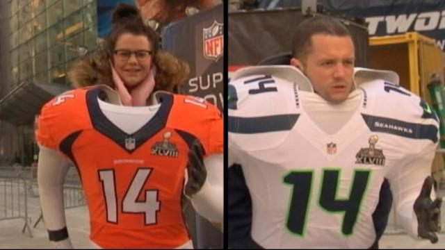 Super Bowl Fans Face Off