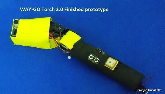 Way-Go flashlight uses lasers to light your path, GPS to tell you where to go