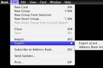 Managing your Mac's Address Book