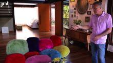 Mansão de Pedro Bial tem pau-brasil de 100 anos e sofá de R$ 120 mil