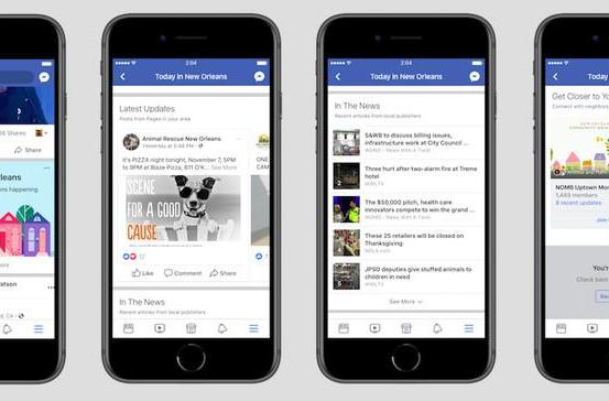 Facebook is testing a dedicated section for local news