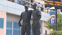Messages of Hate Deface Jackie Robinson Statue