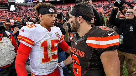 Patrick Mahomes: I've known Baker Mayfield a long time, playing on this  stage will be special