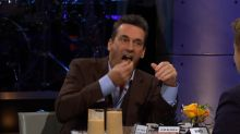 Jon Hamm would rather eat THIS than discuss his 'hammaconda'