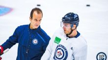 Winnipeg Jets centre Bryan Little talks about his road to recovery from early season injury
