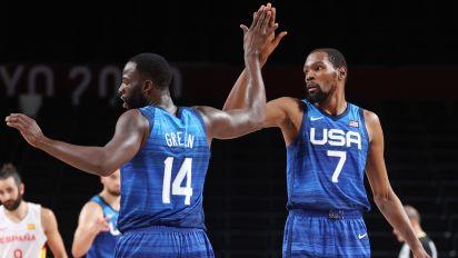 KD steps up to help lead Team USA to semis
