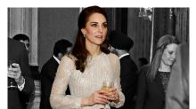Kate Middleton Glitters in 2 Metallic Looks