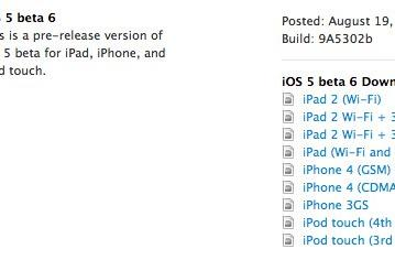 iOS 5 beta 6 fresh out of the oven for your downloading pleasure
